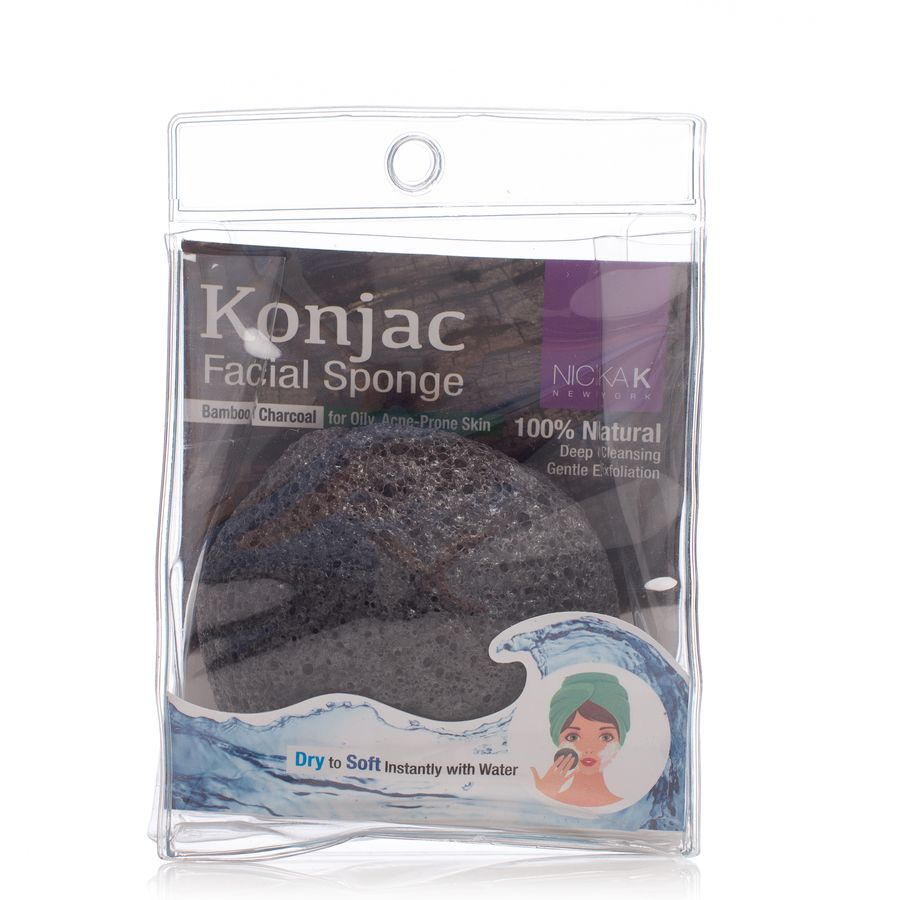 Nicka K New York Konjac Sponge Bamboo Charcoal