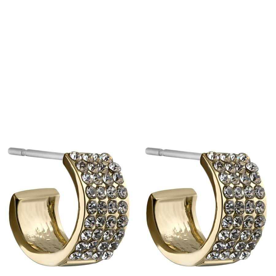 Snö of Sweden Carrie Small Earring Gold/Clear 13mm