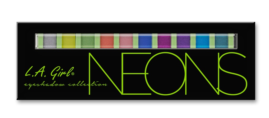 L.A. Girl Beauty Brick Eyeshadow Collection Neon GES334 12g