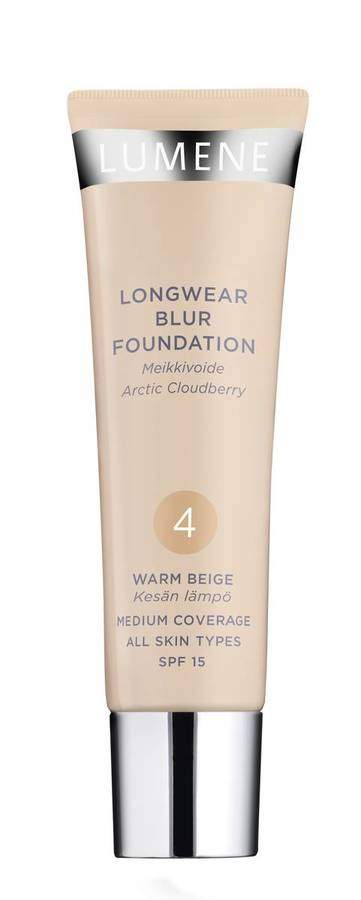Lumene Longwear Blur Foundation SPF15 4 Warm Beige 30ml