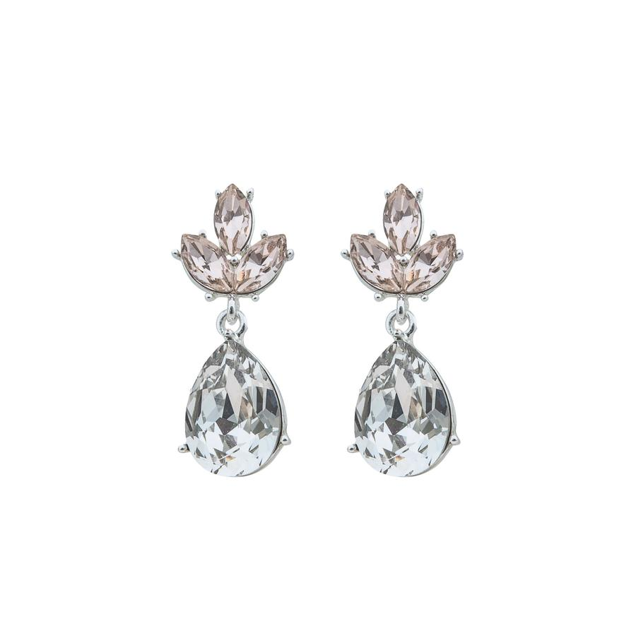 Snö of Sweden Noemi Small Drop Earring Silver/Champagne Mix 5