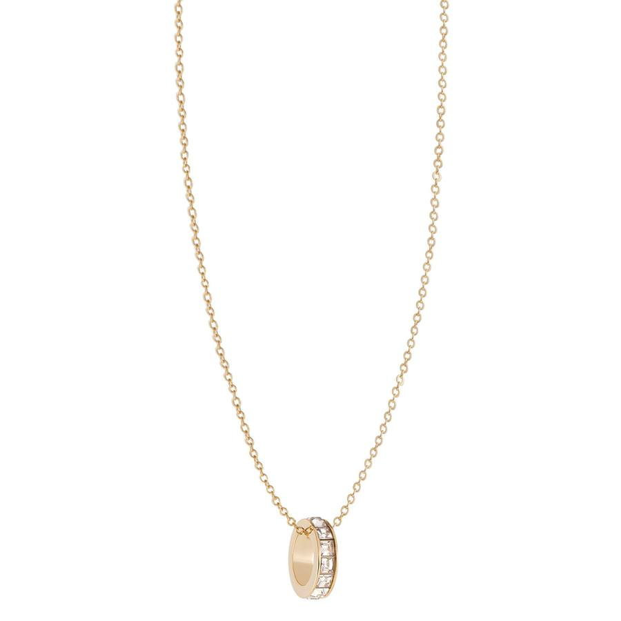 Snö of Sweden Trio Ring Pendant Neckles Gold/Clear 42cm