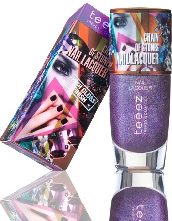 Teeez Trend Cosmetics Desert Glow Collection Chain of Stones Nail Lacquer Amazing Amethyst