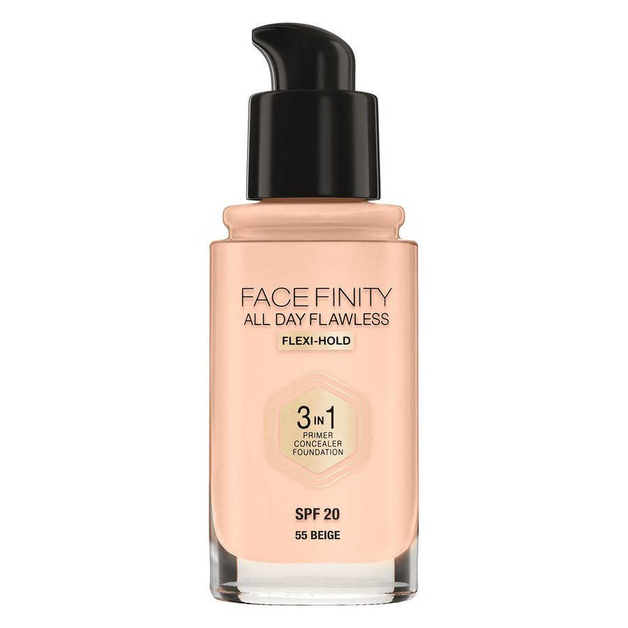Max Factor Facefinity All Day Flawless 3-In-1 Foundation #55 Beige 30ml