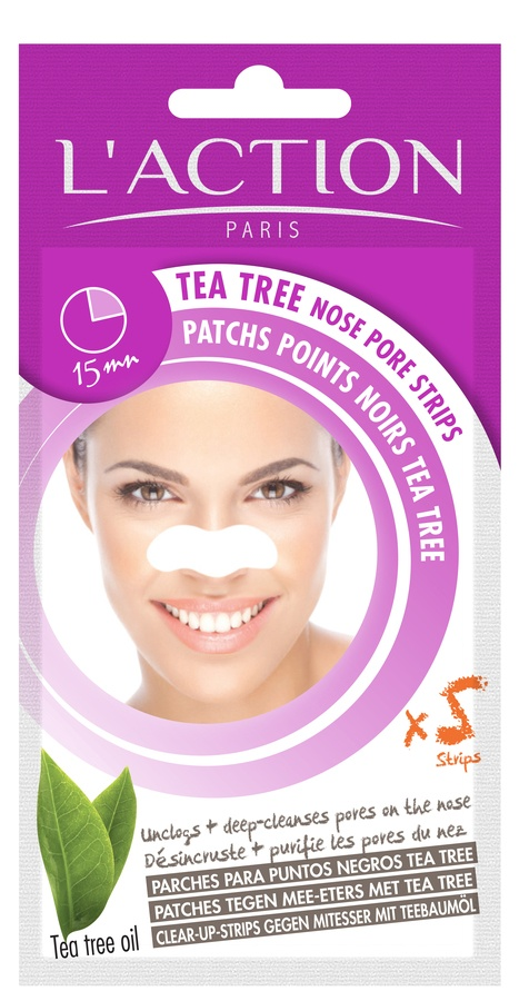 L'Action Paris Tea Tree Nose Pore Strips 14g