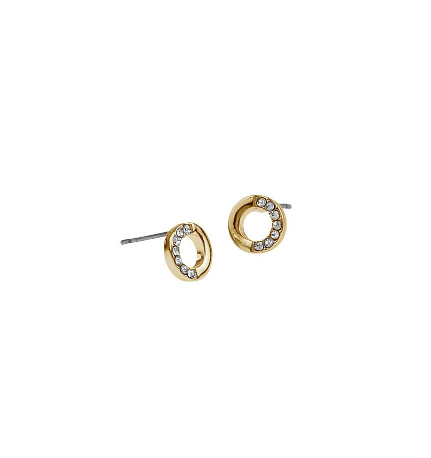 Snö Of Sweden Colline Small Earring Gold/Clear 8mm