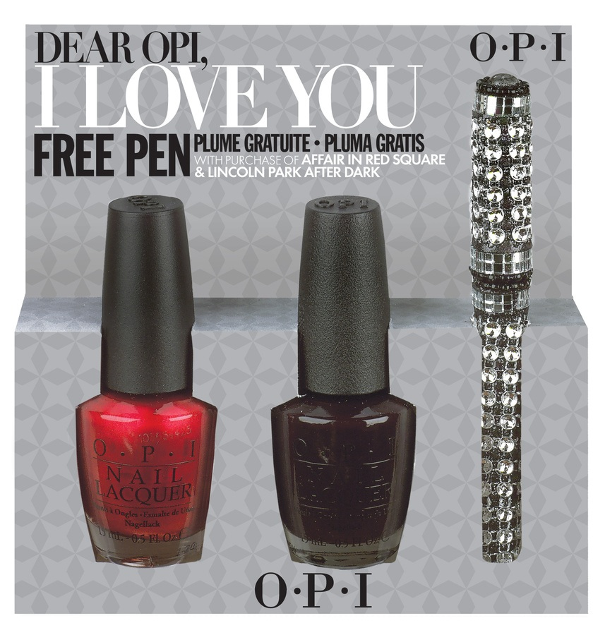 OPI Dear OPI I Love You (An Affair In Red Square & Lincoln Park After Dark)