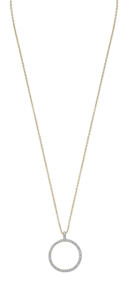 Snö Of Sweden Lily Pendant Necklace Gold/Clear 42cm