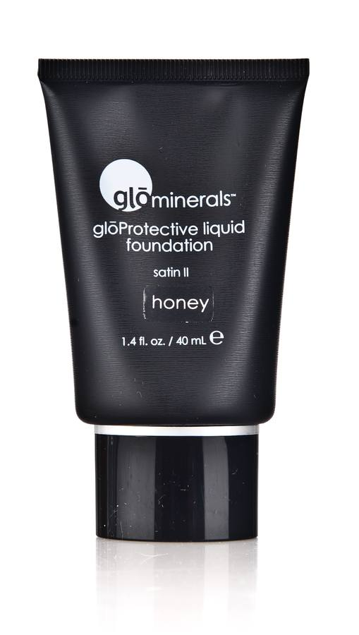 glóMinerals Protective Liquid Foundation-Satin II Honey 40ml