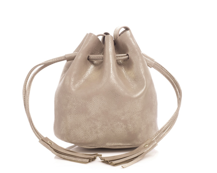 Shelas Bucket Bag Metallic Sølv