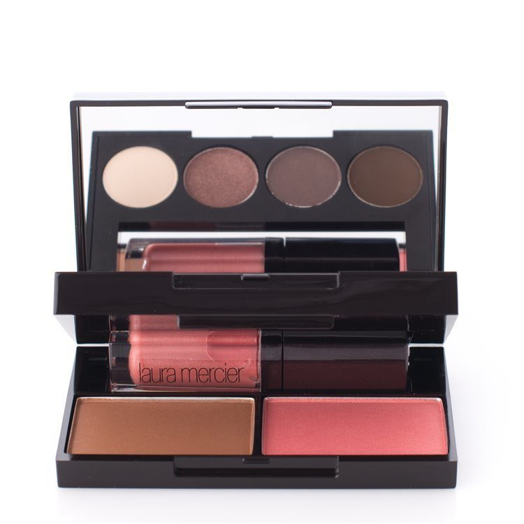 Laura Mercier Colour-To-Go Portable Palette For Eyes, Cheeks & Lips 7 Deler Natural Nudes