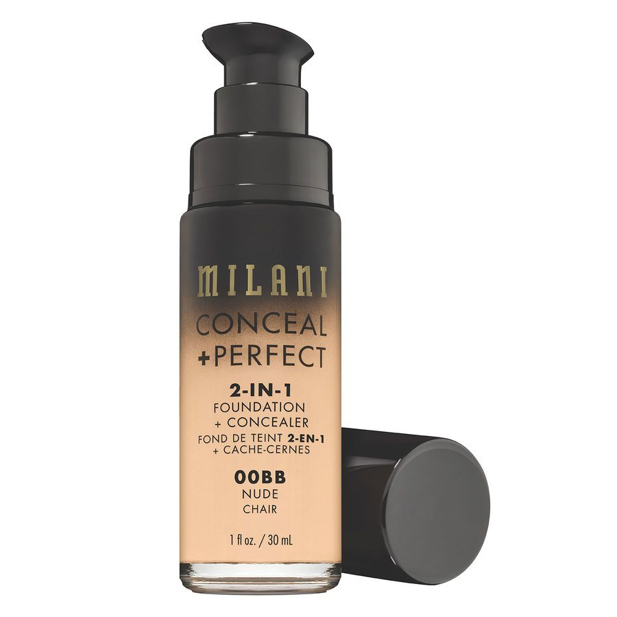 Milani Cosmetics Conceal & Perfect 2 In 1 Foundation + Concealer Nude 30ml