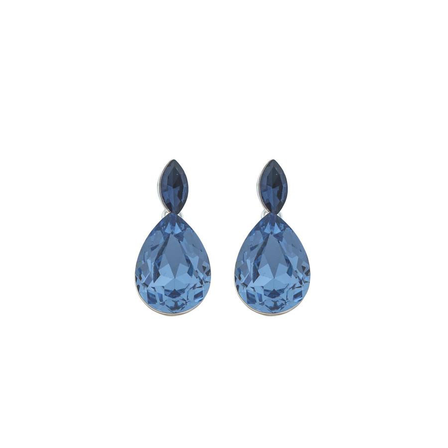 Snö Of Sweden Noemi Small Drop Earring Silver/Blue Mix 1 29mm
