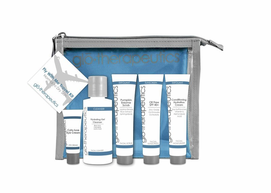 gló•therapeutics Fly With Me Travel Kit Normal To Dry Skin Sett I 5 Deler