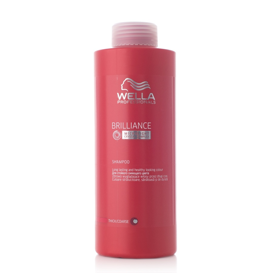 Wella Professionals Brilliance Shampoo Grovt/Tykt Hår 1000ml