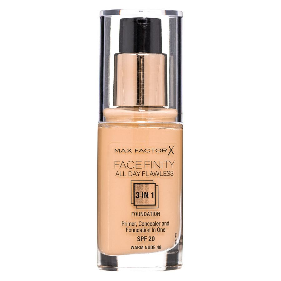 Max Factor Facefinity 3 In 1 Foundation 48 Warm Nude 30ml