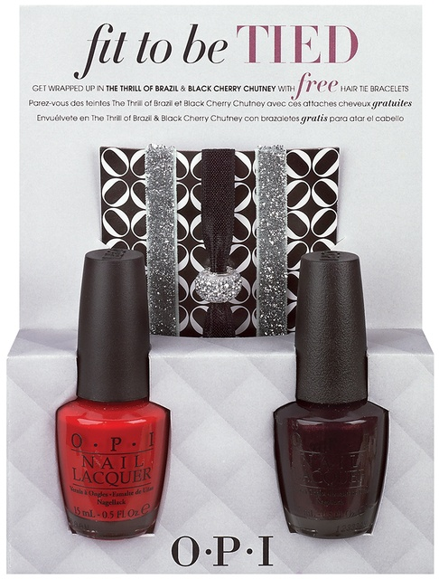 OPI Mariah Carey Holiday Collection – Fit To Be Tied Duo The Thrill Of Brazil & Black Cherry Chutney 2 x 15ml