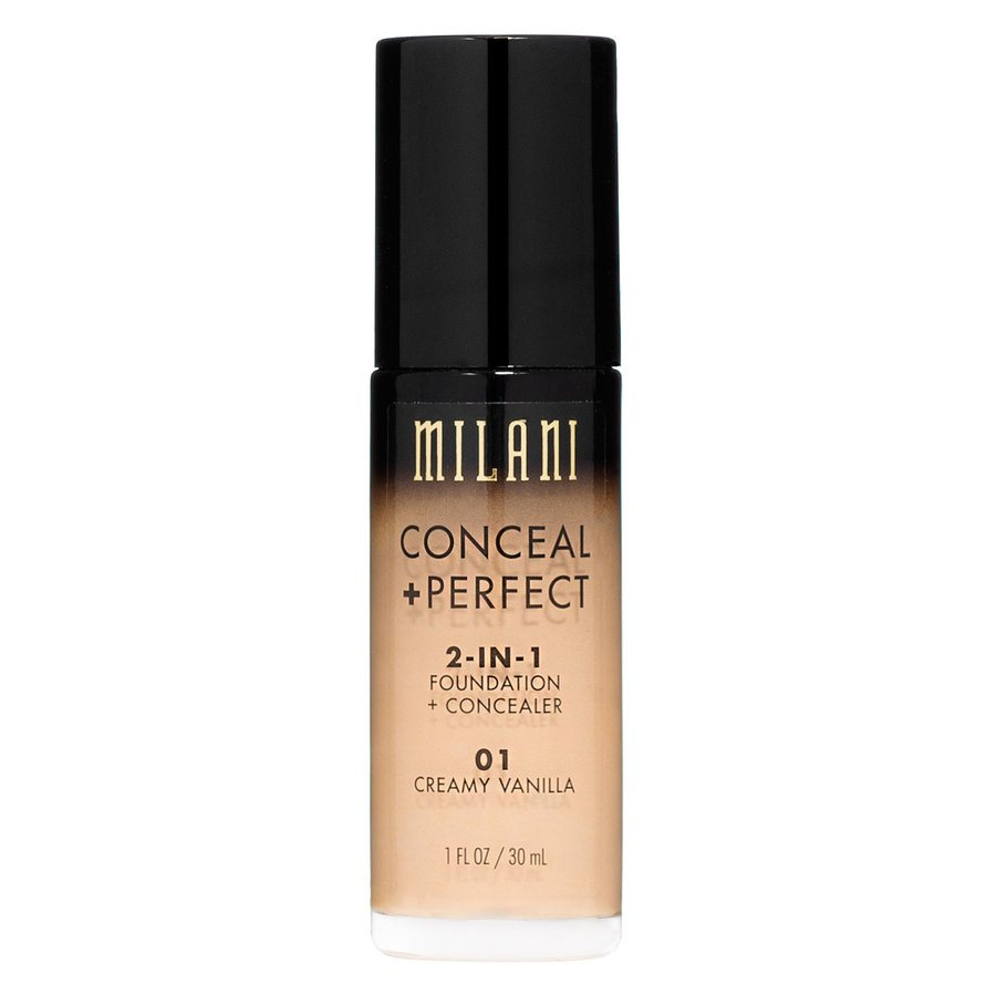 Milani Conceal & Perfect 2 In 1 Foundation + Concealer Creamy Vanilla 30ml