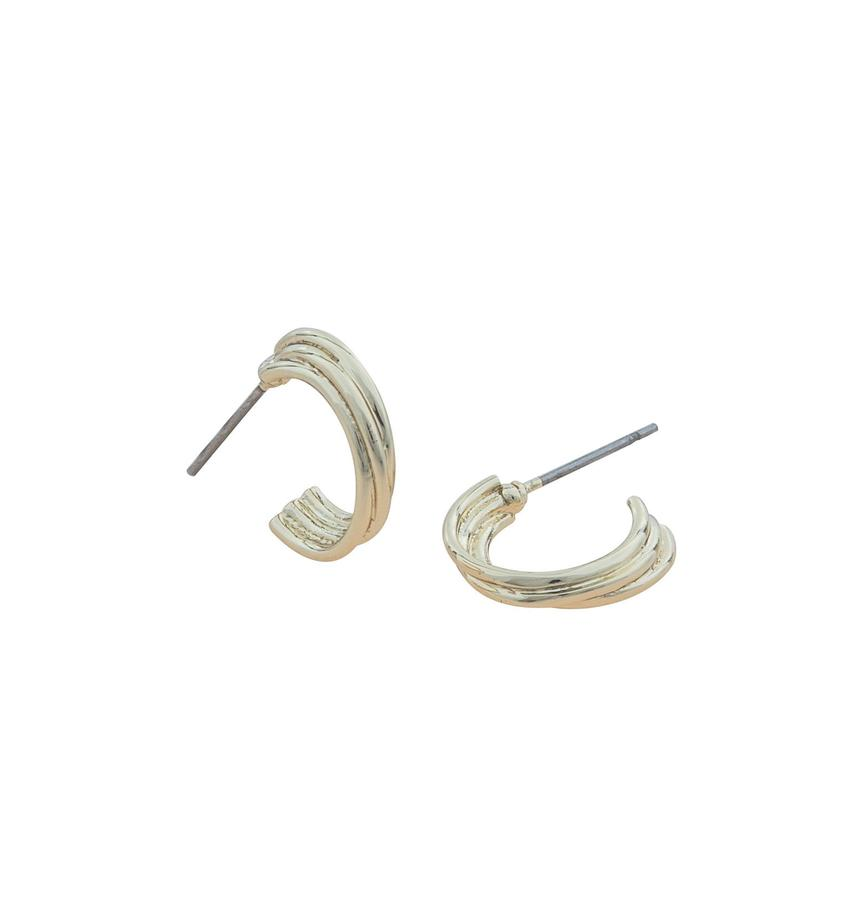 Snö Of Sweden Linked Oval Earring Gold 15mm