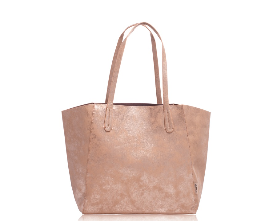 Shelas Tota Bag Metallic Champagne