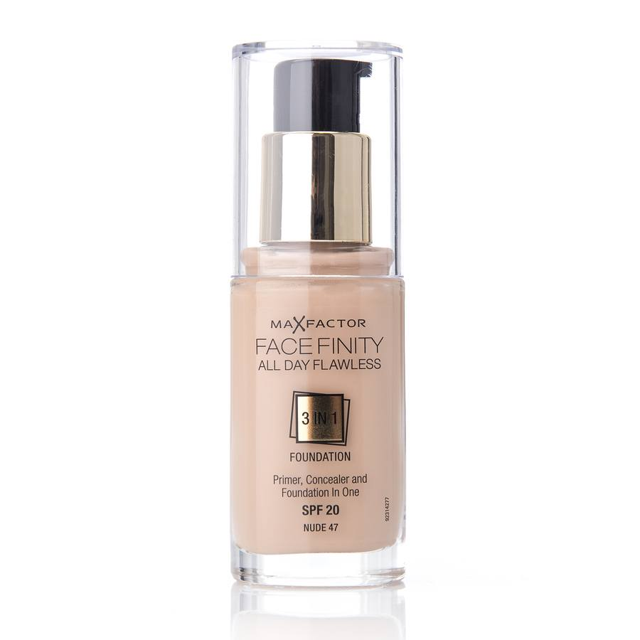 Max Factor Facefinity 3 In 1 Foundation 47 Nude 30ml