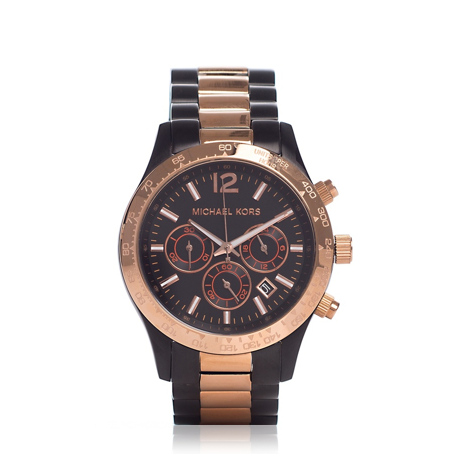 Michael Kors Klokke MK8208 SORT/GULL