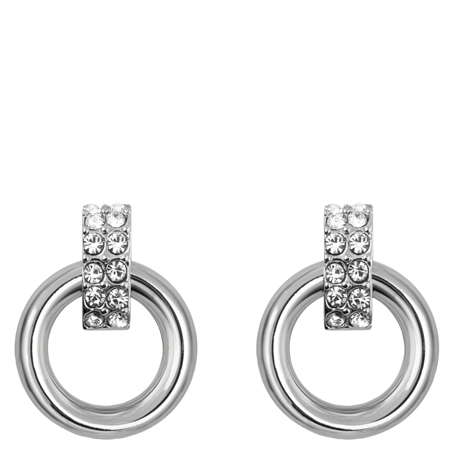Snö of Sweden Adara Small Earring Silver/Clear 22mm