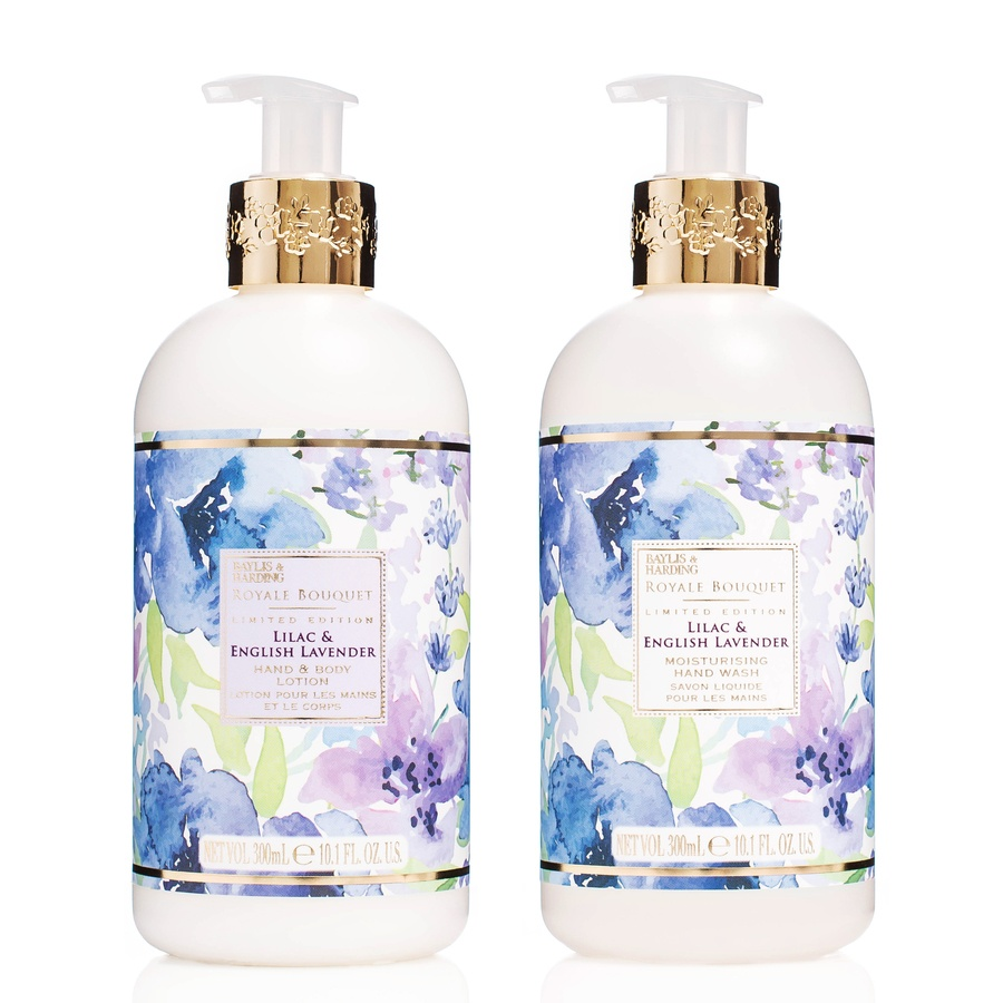 Baylis & Harding Royal Bouquet Lilac & English Lavender Hand Wash And Lotion 2 x 300ml