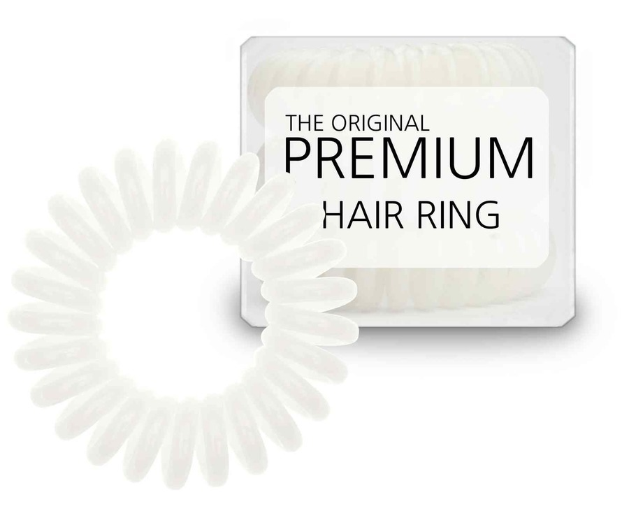 Premium Hair Rings White 3pk Strikk