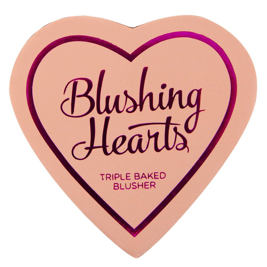 I Heart Revolution Blushing Hearts Blusher Peachy Pink Kisses 10g