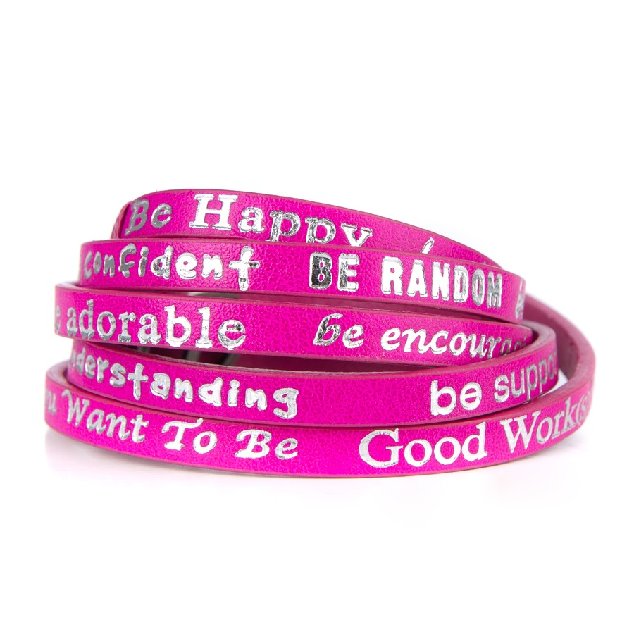 "Good Work(s) Wrap Around ""Be happy"" Pink"