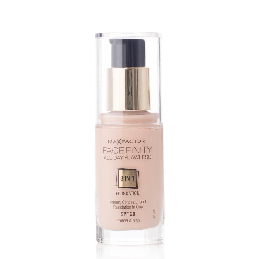 Max Factor Facefinity All Day Flawless 3 In 1 Foundation Spf 20 30 Porcelain 30ml