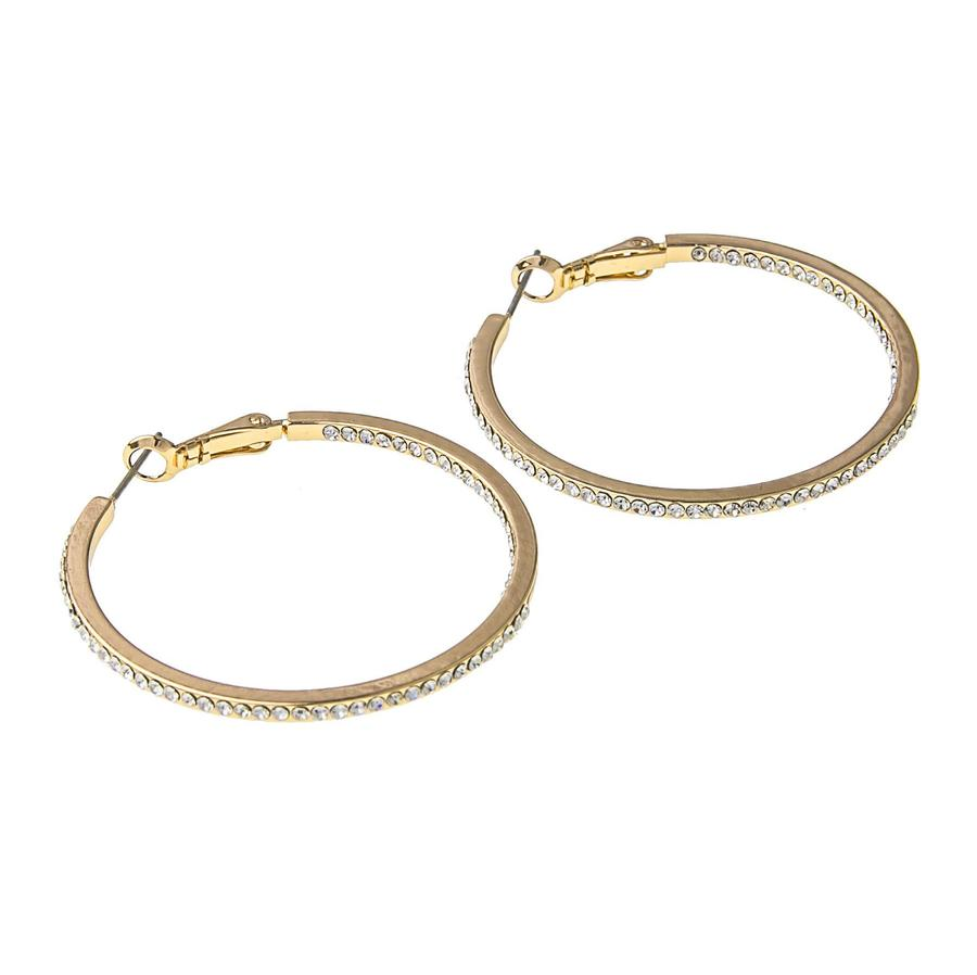Snö Of Sweden Story Ring Earring Gold/Clear