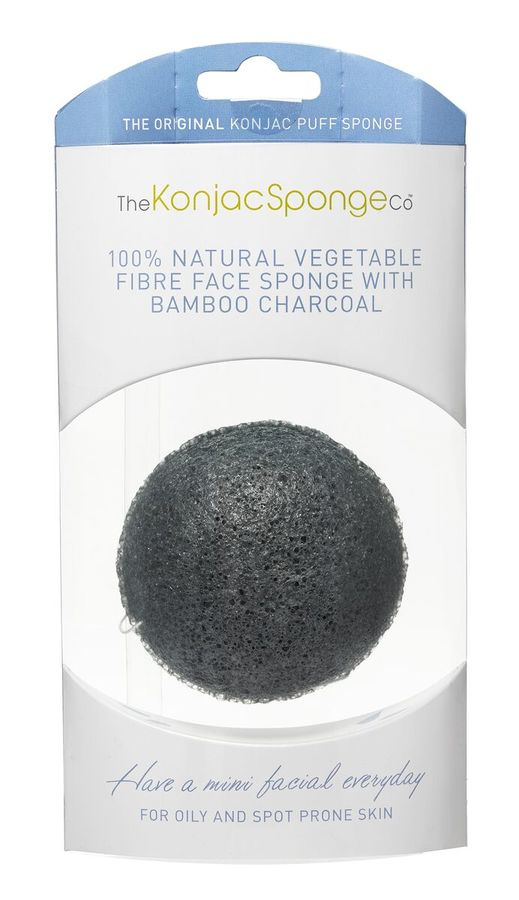 Original Korean Konjac Sponge Black Konjac Sponge for oily and acne Skin