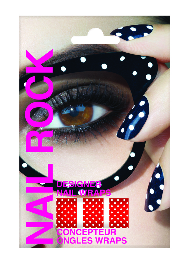 Rock Beauty Nail Rock White Dots on Red