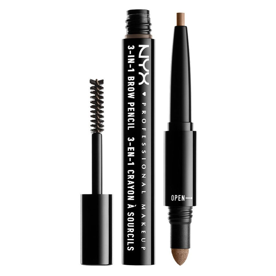 NYX Professional Makeup 3-In-1 Brow Pencil Taupe