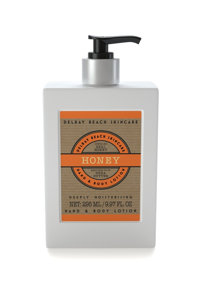 Delray Beach Skincare Hand & Body Lotion Honey 295ml