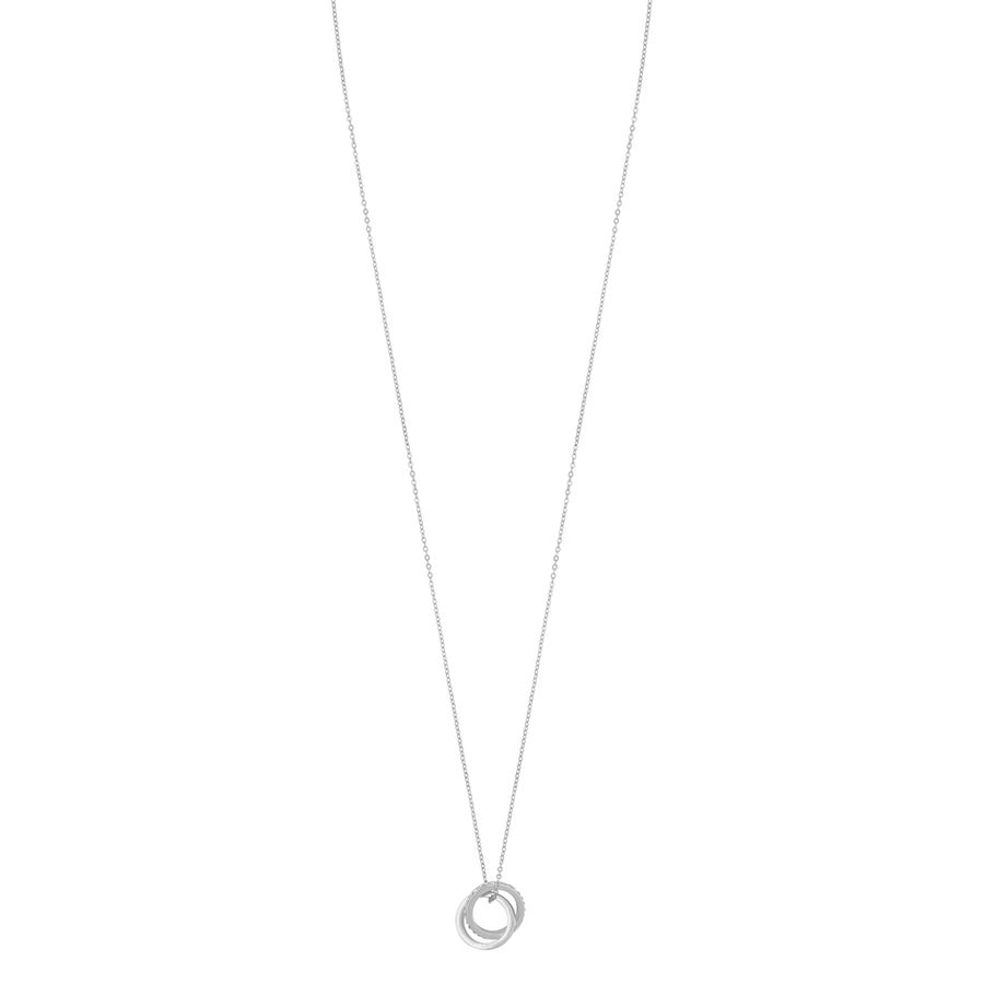 Snö Of Sweden Connected Pendant Necklace Silver/Clear 80cm