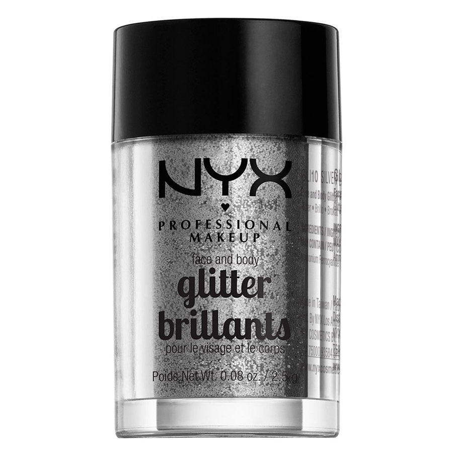 NYX Professional Makeup Face And Body Glitter Brilliants Silver GLI10 2,5g
