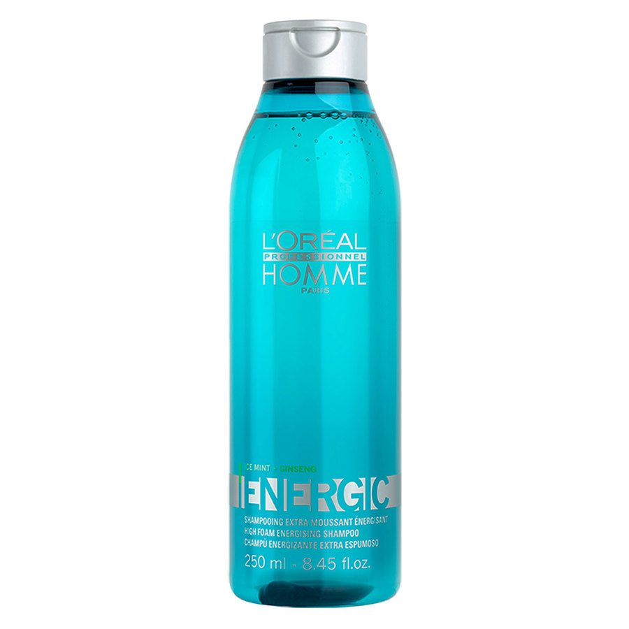 L'Oréal Professionnel Homme Energic Ice Mint & Ginseng Shampoo 250ml