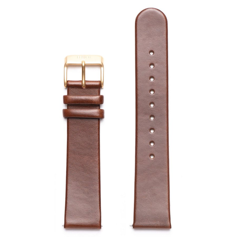 Felix B Leather Strap - Brown/Gold