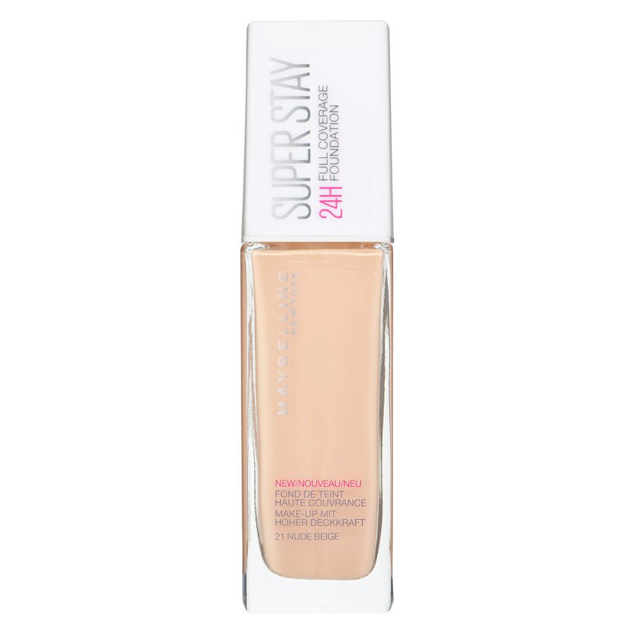 Maybelline Super Stay 24H Full Coverage Foundation 21 Nude Beige 30ml