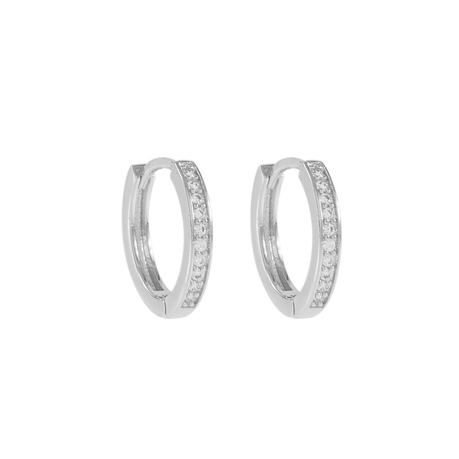 Snø of Sweden-Elaine small ring ear s/clear 14mm