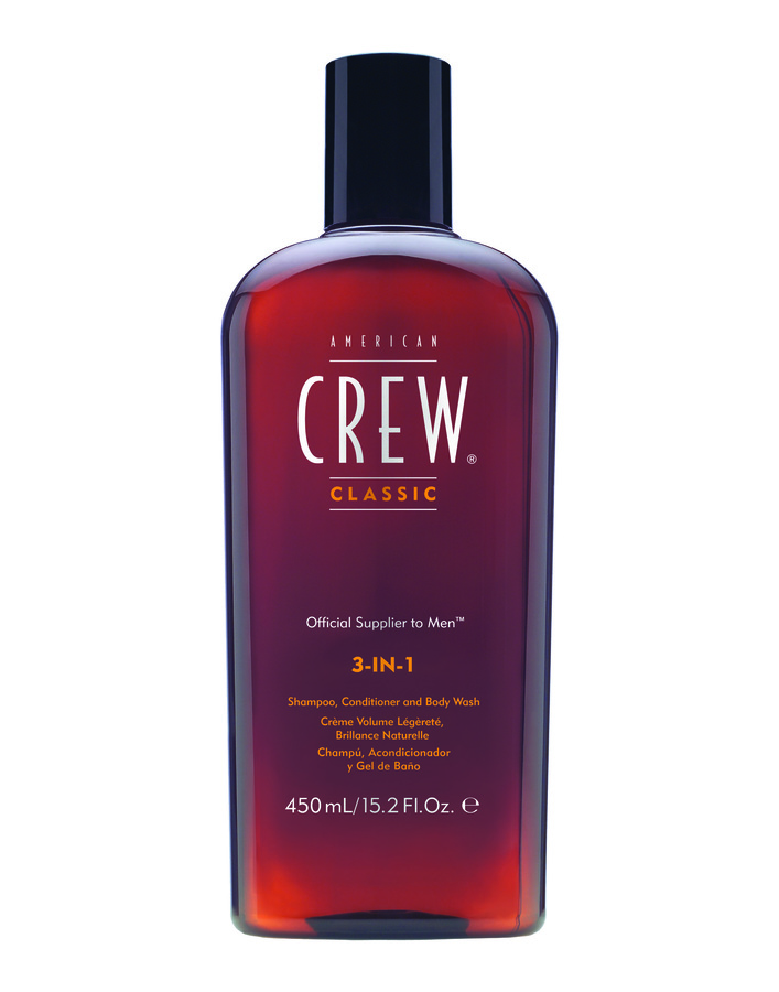 American Crew Classic 3 In 1 Shampoo, Balsam Og Body Wash Herre 450ml