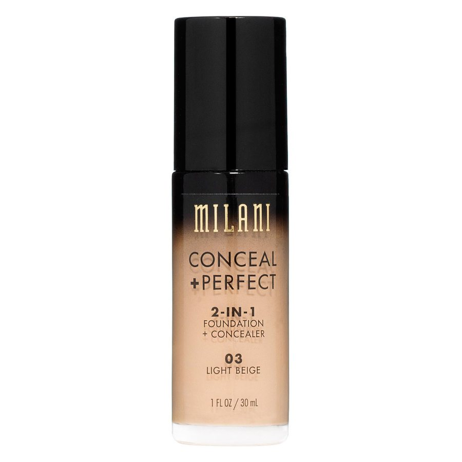 Milani Conceal & Perfect 2 In 1 Foundation + Concealer Light Beige 30ml