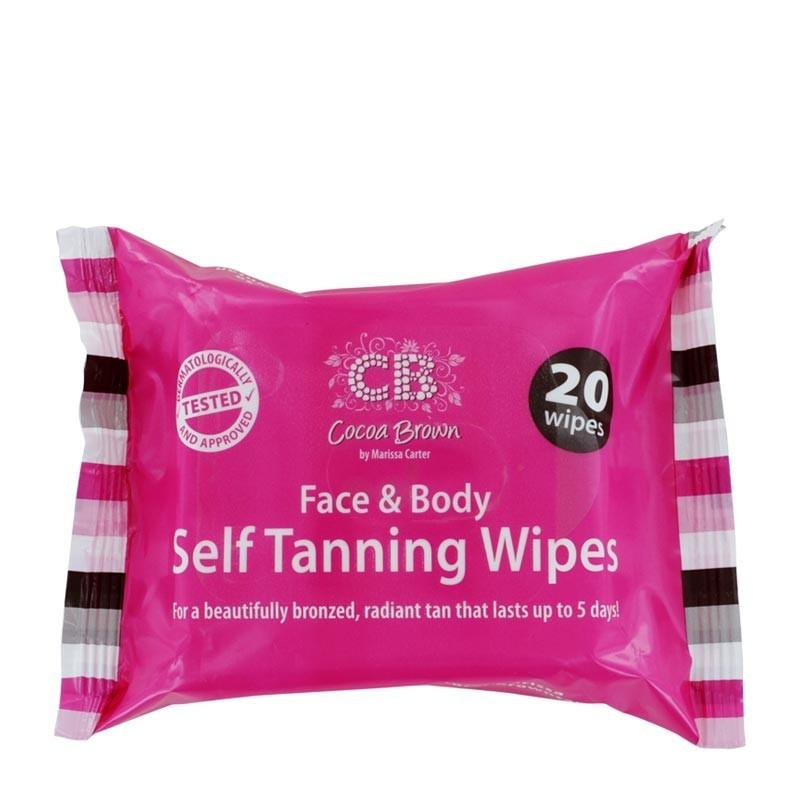 Cocoa Brown Face & Body Self Tanning Wipes 20 Wipes