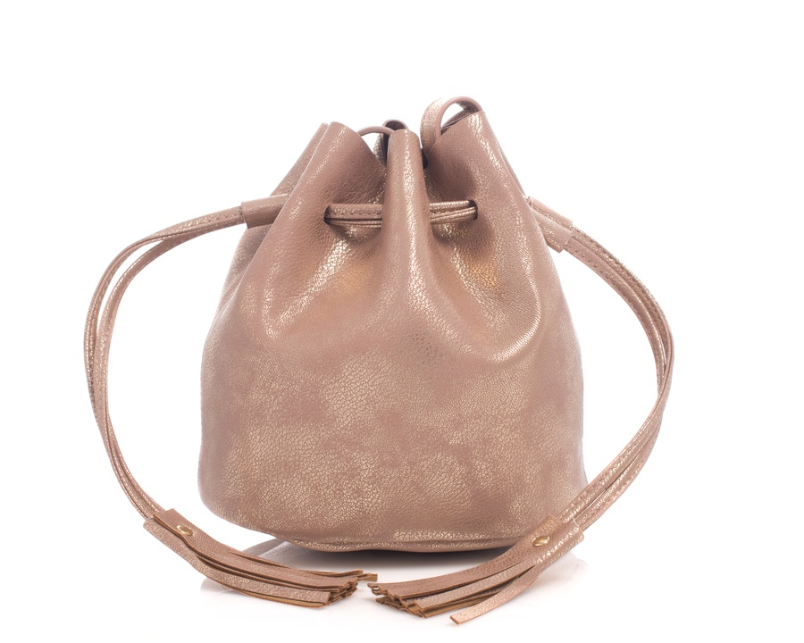 Shelas Bucket Bag Metallic Champagne