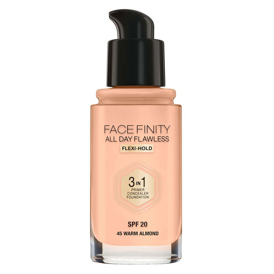 Max Factor Facefinity 3 In 1 Foundation 45 Warm Almond 30ml