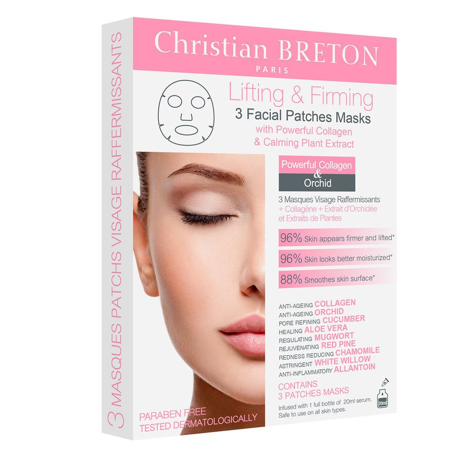 Christian Breton Lifint & Firming Facial Mask 3 Face Patch Box