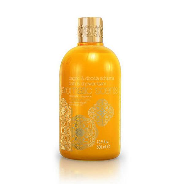 Aromatic Scents Bath & Shower Foam With Argan Oil Indian Ginger 500ml